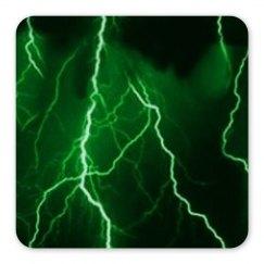 Green Lightning Magnet