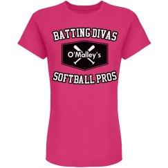 Batting Divas Pink Tees