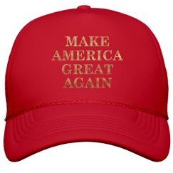 Gold Make America Great Hat