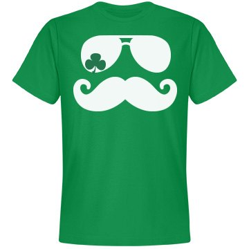 Shamrock Mustache St Pattys Day