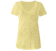 Next Level Misses Burnout V-Neck T-Shirt