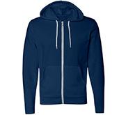 Unisex American Apparel Fleece Zip Hoodie