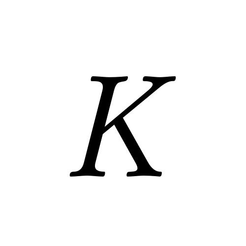 K Latin Capital Letter K Aegyptus Regular Graphemica
