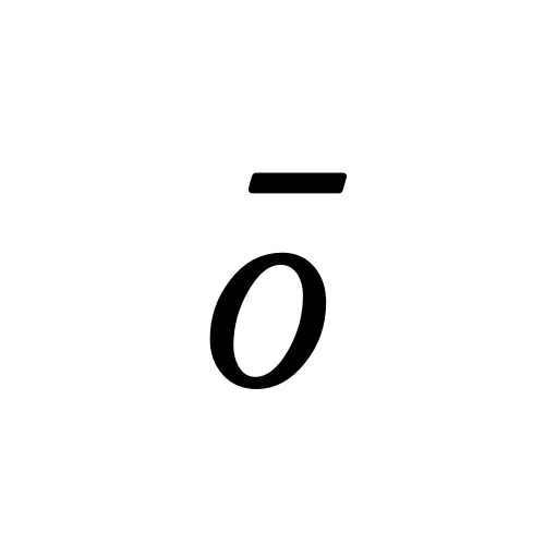 ō | latin small letter o with ...