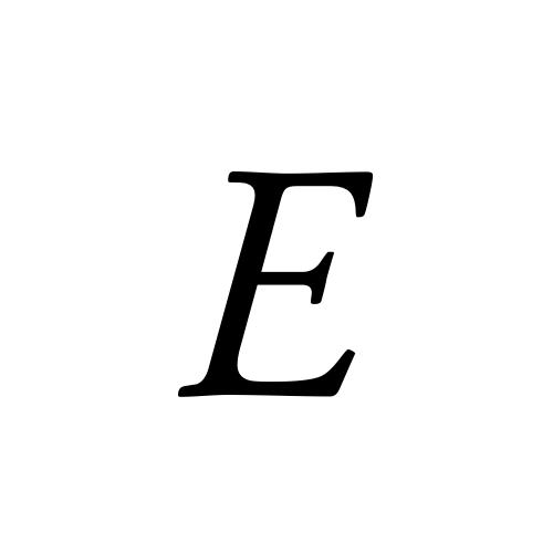E | latin capital letter e | Musica, Regular @ Graphemica