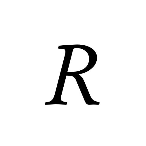 R | latin capital letter r | Musica, Regular @ Graphemica