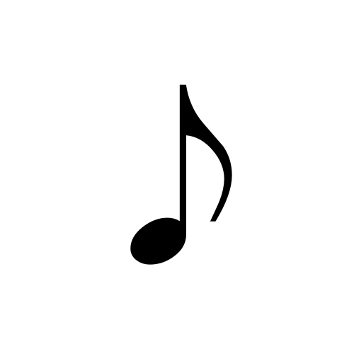 eighth note musica regular graphemica