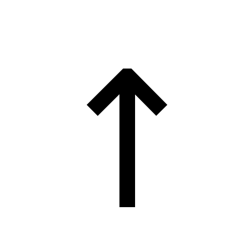 ↑ | upwards arrow | DejaVu Sans, Book @ Graphemica