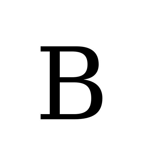 B | latin capital letter b | DejaVu Serif, Book @ Graphemica