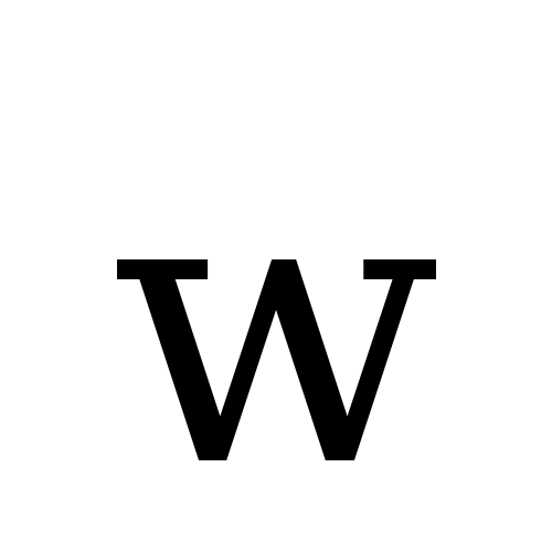 W Latin Small Letter W Dejavu Serif Book Graphemica