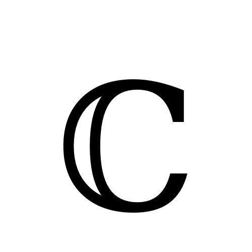 ℂ Double Struck Capital C Dejavu Serif Book At Graphemica