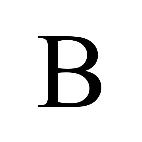 B | latin capital letter b | Times New Roman, Regular @ Graphemica