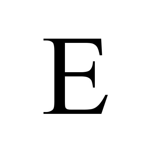 E | latin capital letter e | Times New Roman, Regular @ Graphemica