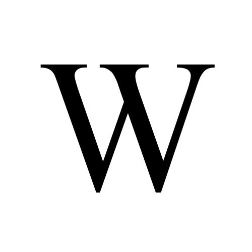 W | latin capital letter w | Times New Roman, Regular @ Graphemica