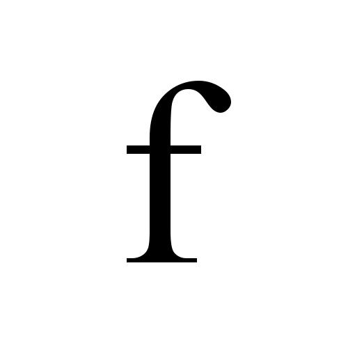 F Latin Small Letter F Times New Roman Regular Graphemica