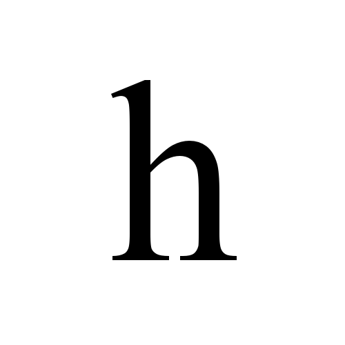 Wonderlijk h | latin small letter h | Times New Roman, Regular @ Graphemica IH-26