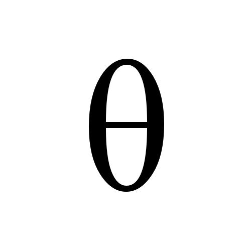 θ greek small letter theta times new roman regular graphemica
