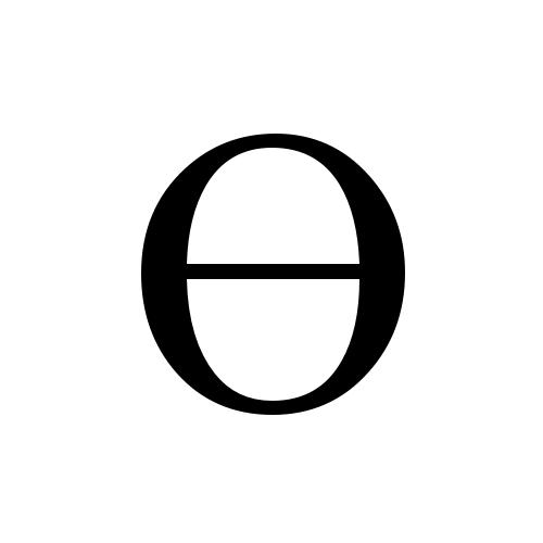 ϴ greek capital theta symbol times new roman regular graphemica