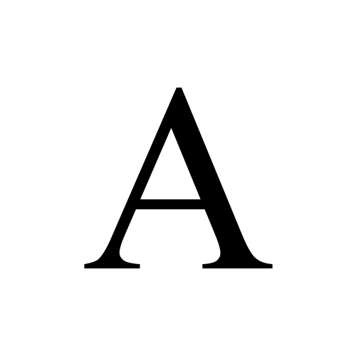 Times New Roman, Regular - А