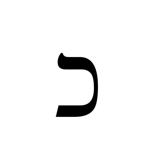 כ | hebrew letter kaf | Times New Roman, Regular @ Graphemica