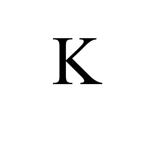 ᴷ Modifier Letter Capital K Times New Roman Regular