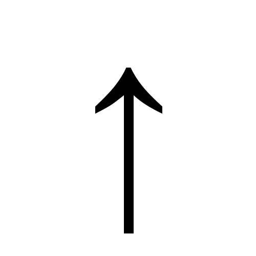 ↑ | upwards arrow | Times New Roman, Regular @ Graphemica