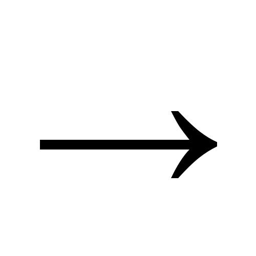 → | rightwards arrow | Times New Roman, Regular @ Graphemica