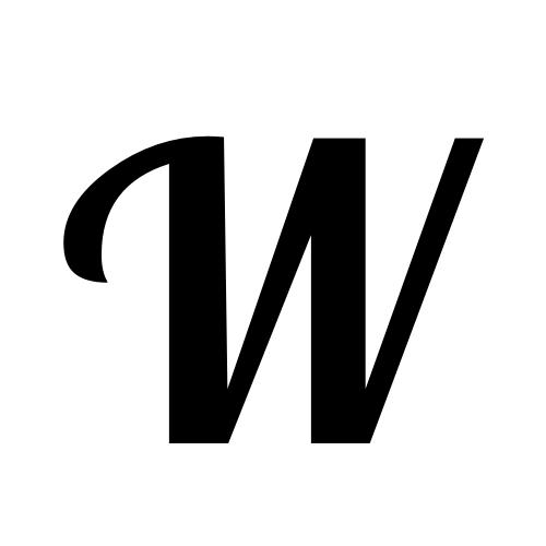 W | latin capital letter w | Lobster1 1, Regular @ Graphemica
