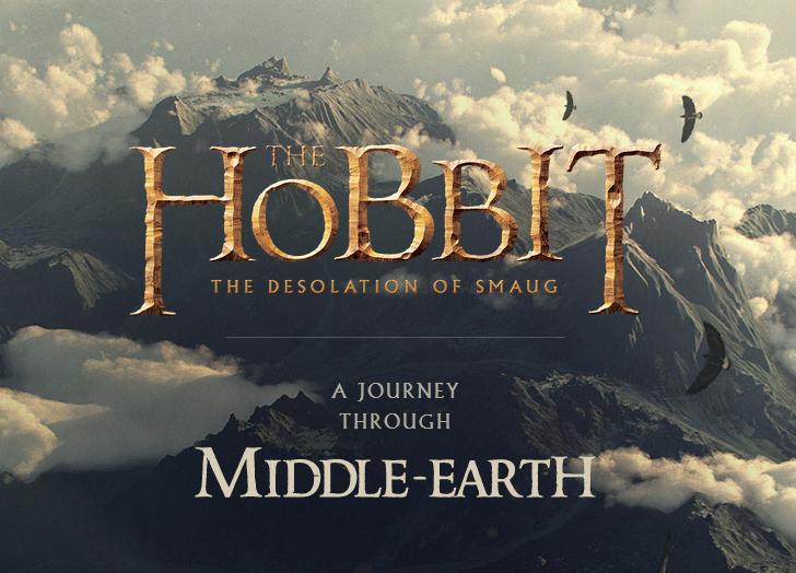 The Hobbit - an interactive journey through middle earth to promote the new film