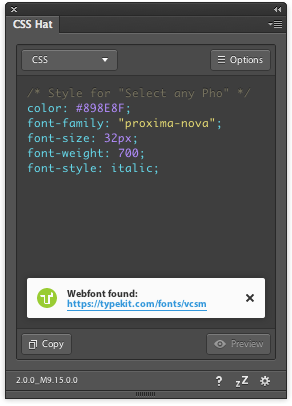 Suggestions in CSS Hat 2