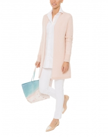 Sophie Pale Pink Cable Knit Cashmere Cardigan