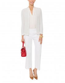 Judith Cream Stretch Silk Blouse