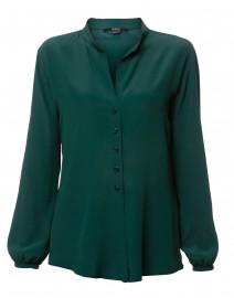 8ca391faa2bf ... look Seventy Green Silk Blouse $245 ...