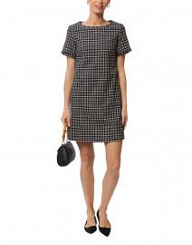 Afelio Black Plaid Cotton Dress