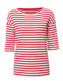 80c0a955 ... look Marc Cain Sports Red and White Striped Stretch Cotton Shirt $200  More colors available ...
