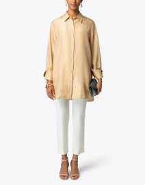 Jerry Ivory Stretch Sateen Pant