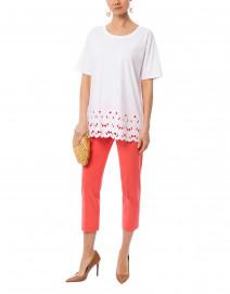Eyalo White Cotton Jersey Top