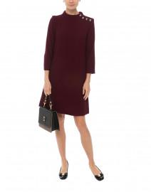 Eloise Bordeaux Wool Crepe Dress