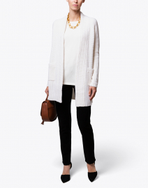Ivory Cashmere Cable Cardigan
