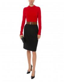 Red Merino Ribbed Sweater
