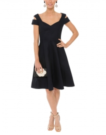Dark Navy Off The Shoulder Dress