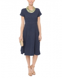 Oscuro Navy Denim Linen Dress