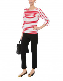 Galathee White and Red Striped Shirt