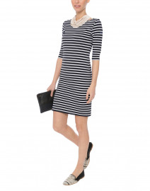 Propiano Navy Striped Dress