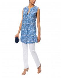 Ofelia Chica Blue and White Printed Dress