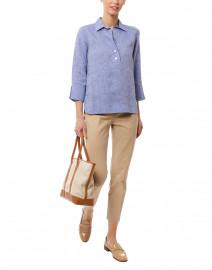 Monia Tan Stretch Cotton Pant