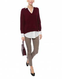 Barolo Red Sweater with White Underlayer