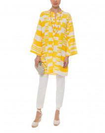 Yasmina Yellow and White Stripe Silk Linen Tunic