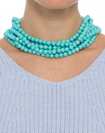 Turquoise Beaded Multi-Strand Necklace