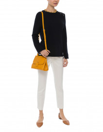 Pyla Navy Cotton and Wool Double Face Sweater